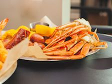 Waterfront crab legs