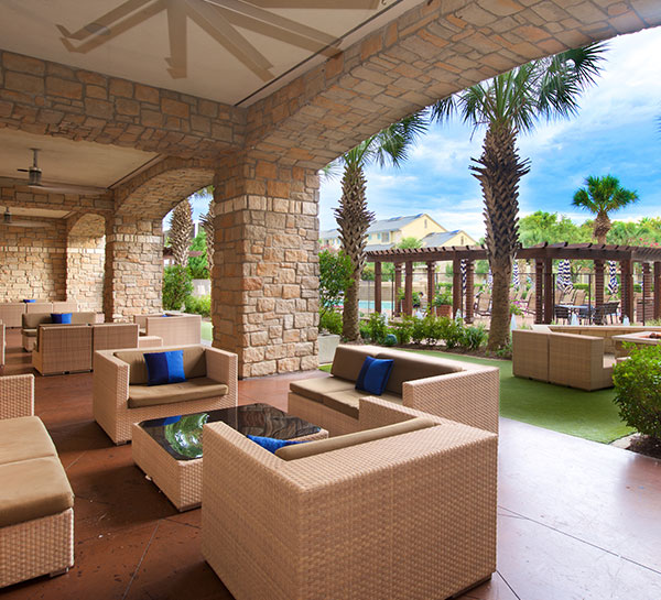 Palm Patio of Horseshoe Bay Resort
