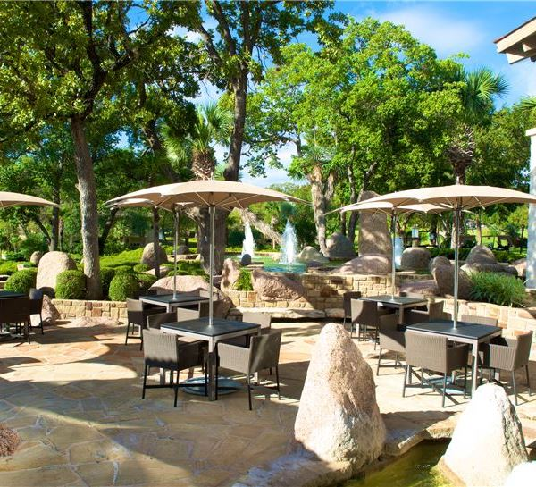 Slick Rock Clubhouse Patio of Horseshoe Bay Resort