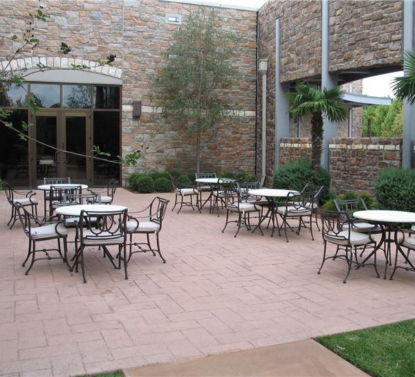 Travertine Patio of Horseshoe Bay Resort